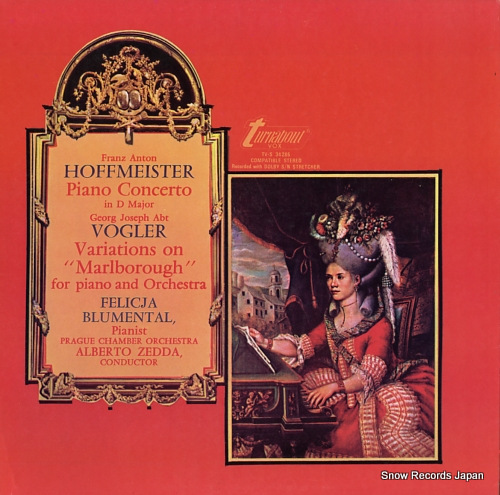BLUMENTAL, FELICJA hoffmeister; piano concerto in d major, op.24 TV-S34285 - front cover