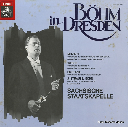 BOHM, KARL bohm in dresden EAC-40218 - front cover