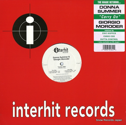 SUMMER, DONNA, AND GIORGIO MORODER carry on 10164-1 - front cover