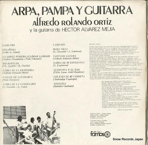 ORTIZ, ALFREDO ROLANDO arpa, pampa y guitarra LDF104 - back cover