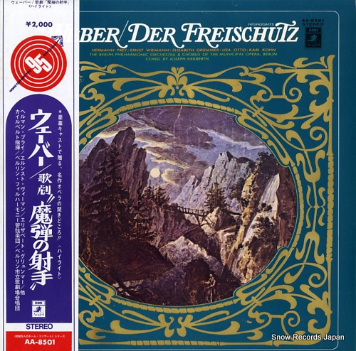 KEILBERTH, JOSEPH weber; der freischutz highlights AA-8501 - front cover