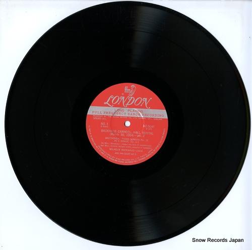 BACKHAUS, WILHELM carnegie hall recital no.2 (march 30.1954) MZ5099 - disc