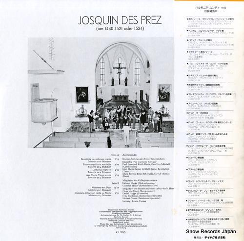 TURNER, BRUNO josquin des prez; motetten ULS-3153-H - back cover