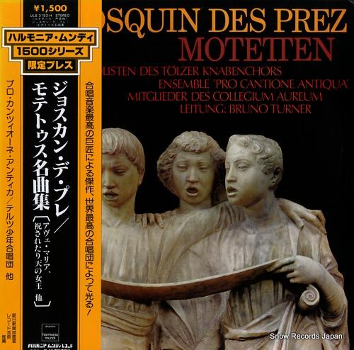 TURNER, BRUNO josquin des prez; motetten ULS-3153-H - front cover