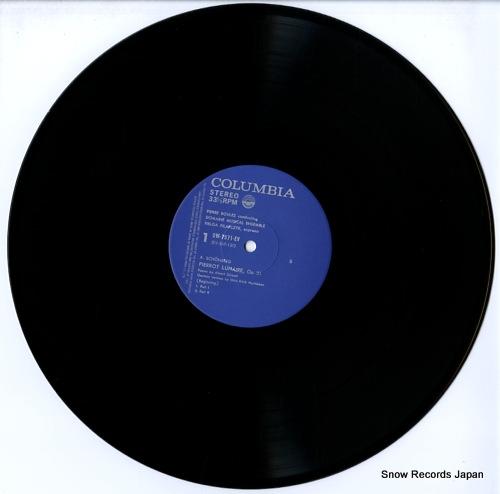 BOULEZ, PIERRE schonberg; pierrot lunaire, op.21 OW-7571-EV - disc