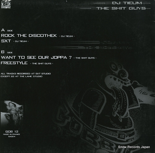 DJ TIEUM / THE SHIT GUYS dj tieum the shit guys GOB12 - back cover