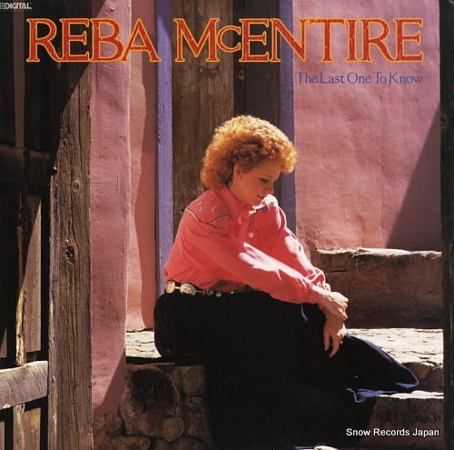 MCENTIRE, REBA the last one to know MCA-42030 - front cover