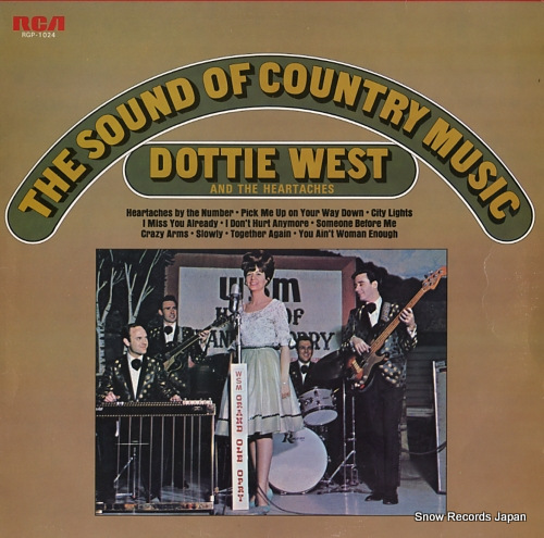 WEST, DOTTIE, AND THE HEARTACHES the sound of country music RGP-1024 - front cover