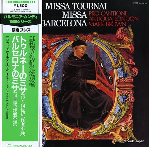 BROWN, MARK missa tournai / missa barcelona ULS-3376-H - front cover