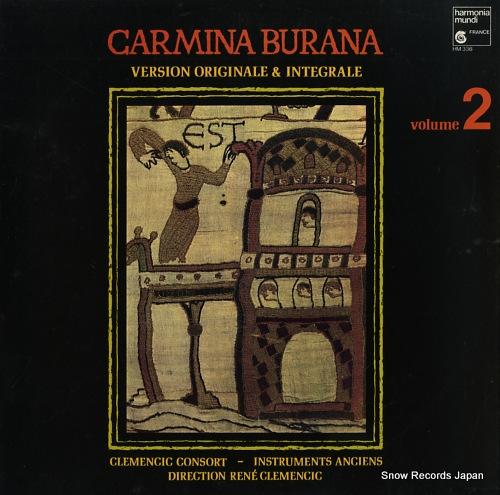 CLEMENCIC, RENE carmina burana. version originale & integrale. volume 2 HM336 - front cover