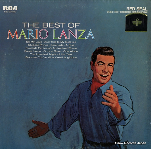LANZA, MARIO the best of mario lanza LSC-2748 - front cover