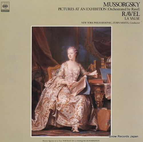 MEHTA, ZUBIN mussorgsky; pictures at an exhibition (orchestrated by ravel) FCCA664 - front cover