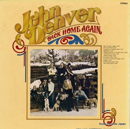 DENVER, JOHN back home again RCA-6239 - back cover
