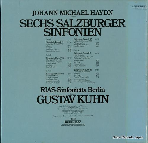 KUHN, GUSTAV haydn; sechs salzburger sinfonien 1C157-99757/58T - back cover
