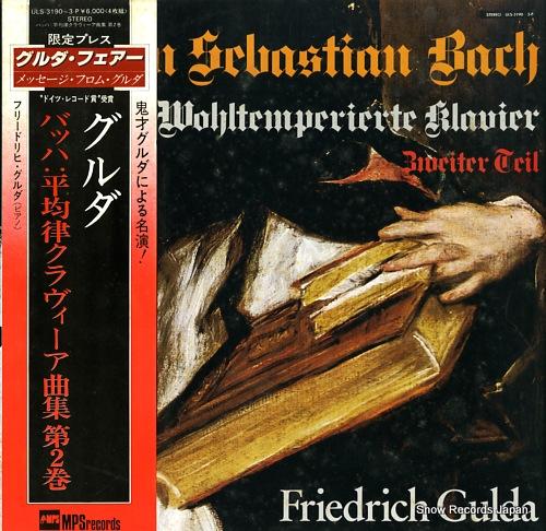 GULDA, FRIEDRICH bach; das wohltemperierte klavier ULS-3190-3-P - front cover