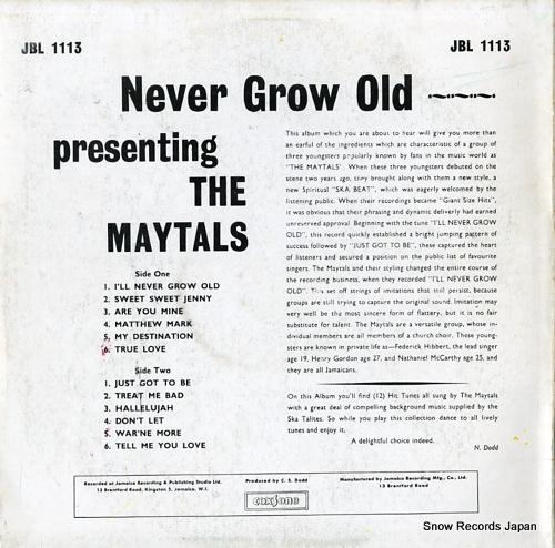 トゥーツ・アンド・ザ・メイタルズ never grow old JBL1113