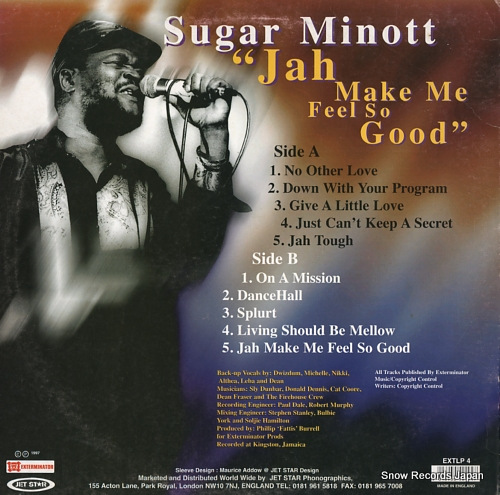 MINOTT, SUGAR jah make me feel so good EXTLP4 - back cover