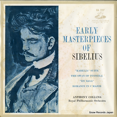 COLLINS, ANTHONY early masterpieces of sibelius HA1127 - front cover