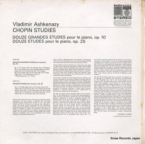 ASHKENAZY, VLADIMIR chopin; studies SAGA5293 - back cover
