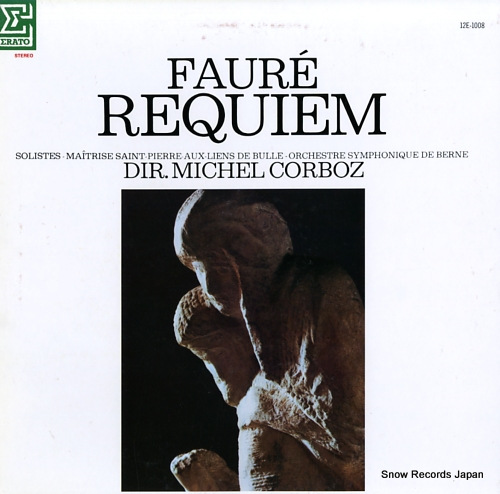 CORBOZ, MICHEL faure; requiem 12E-1008 - front cover