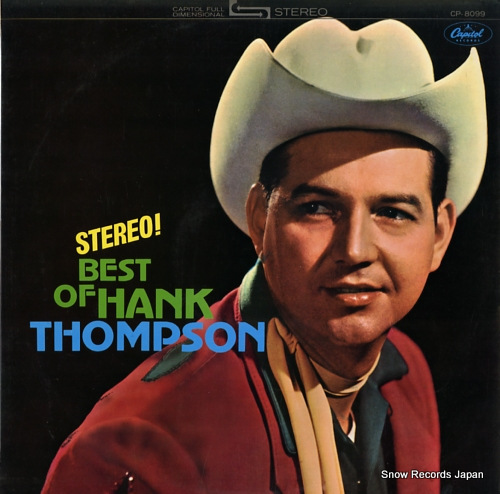 THOMPSON, HANK best of hank thompson CP.8099 - front cover
