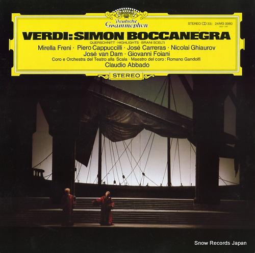 ABBADO, CLAUDIO verdi; simon baccanegra (highlights) 24MG0060 - front cover