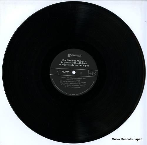 V/A in praise of the alphorn ML2037 - disc