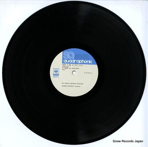 BERNSTEIN, LEONARD stravinsky; le sacre du printemps SOCP6 - disc