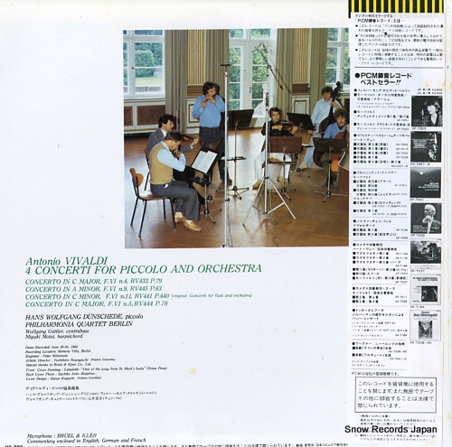 DUNSCHEDE, HANS WOLFGANG vivaldi; 4 concerti for piccolo & orchestra OF-7072-ND - back cover