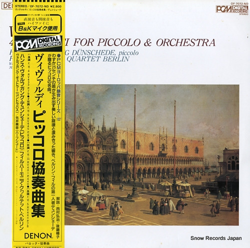 DUNSCHEDE, HANS WOLFGANG vivaldi; 4 concerti for piccolo & orchestra OF-7072-ND - front cover
