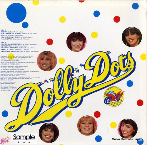 DOLLY DOTS radio gals 28.3P-300 - back cover