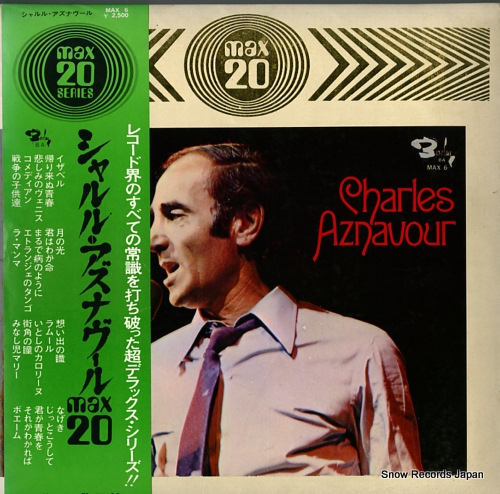 AZNAVOUR, CHARLES max20 MAX6 - front cover