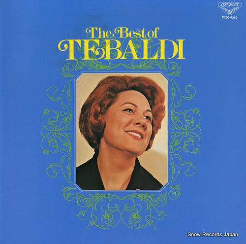 TEBALDI, RENATA the best of tebaldi K20C9359 - front cover