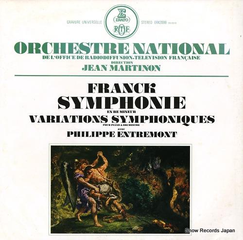 MARTINON, JEAN franck; symphonie en re mineur ERX-2099 - front cover