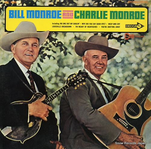 MONROE, BILL, AND CHARLIE MONROE father of blue grass music SDL4005 - front cover