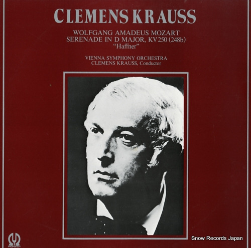 KRAUSS, CLEMENS mozart; serenade in d major, kv250(248b)