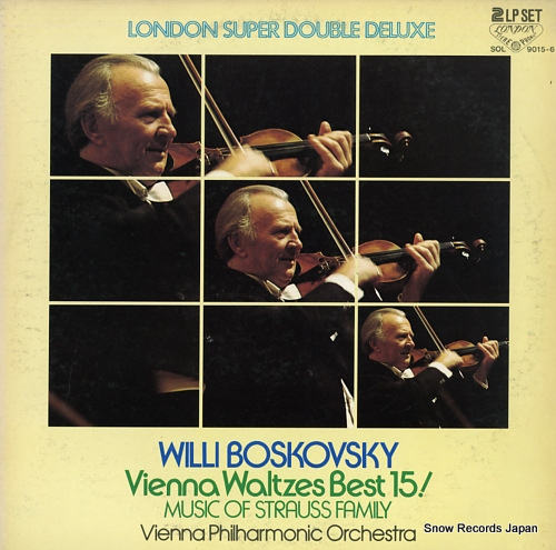 BOSKOVSKY, WILLI vienna waltzes best 15! / music of strauss family SOL9015-6 - front cover