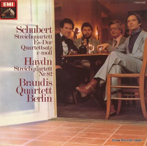 BRANDIS QUARTETT BERLIN schubert; streichquartett es-dur / quartettsatz c-moll 1C065-30829 - front cover