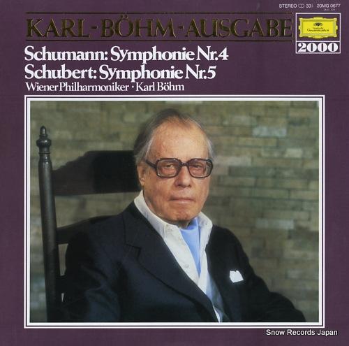 BOHM, KARL schumann; symphonie nr.4 20MG0677 - front cover