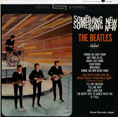 BEATLES, THE something new ST2108 - front cover