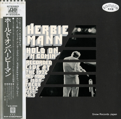 MANN, HERBIE hold on, i'm comin' P-8335A - front cover