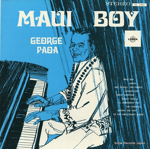 PAOA, GEORGE maui boy SL2066 - front cover