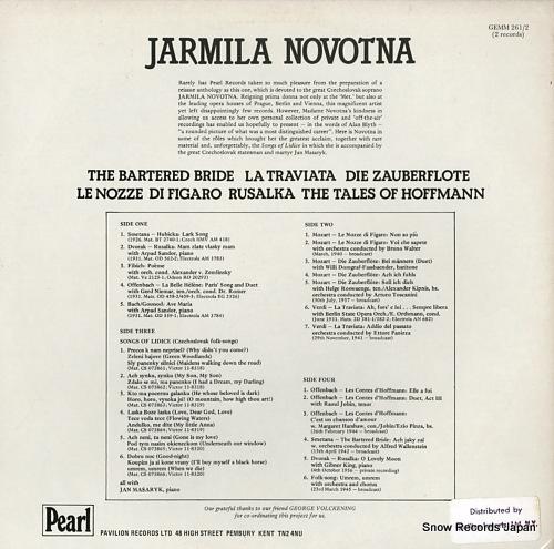 NOVOTNA, JARMILA jarmila novotna GEMM261/2 - back cover