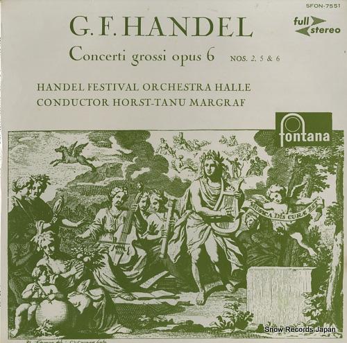 MARGRAF, HORST-TANU handel; concerti grossi opus 6 / nos.2, 5 & 6 SFON-7551 - front cover