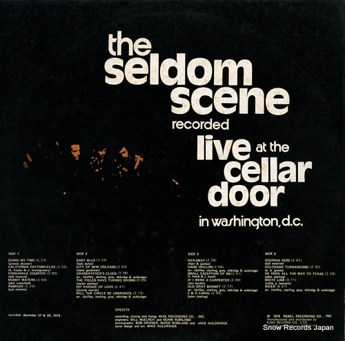 SELDOM SCENE, THE live at the cellar door GXF6001/2 - back cover