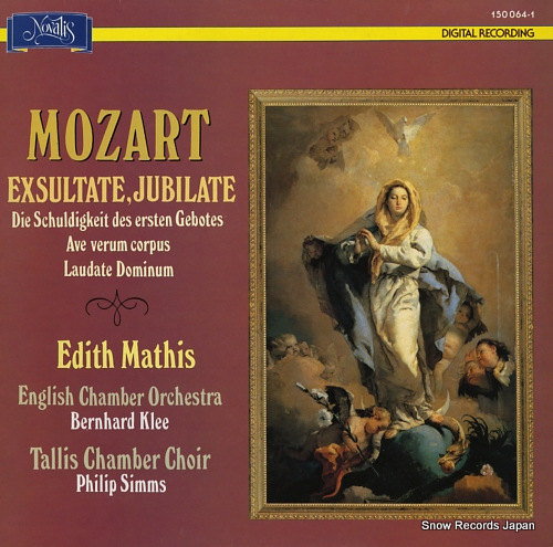 MATHIS, EDITH mozart; exsultate, jubilate 150064-1 - front cover