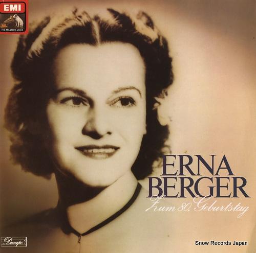 BERGER, ERNA zum 80. gebertstag 1C137-46104/05M - front cover