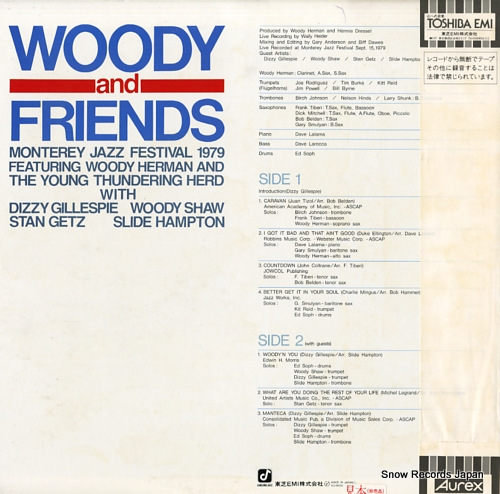 HERMAN, WOODY woody and friends ICJ-80203 - back cover