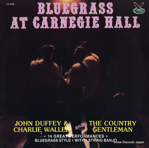 COUNTRY GENTLEMEN, THE bluegrass at carnegie hall GT-0102 - front cover