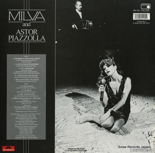 ミルバ/アストル・ピアソラ live at the bouffes du nord 825125-1